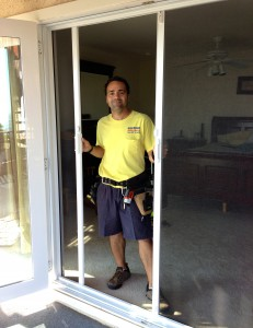 Retractable screen door install