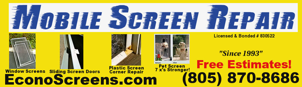 Screen Door and Window Screen Repair Service | 805-304-6778